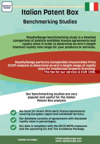 Italtian patent box – benchmarking studies