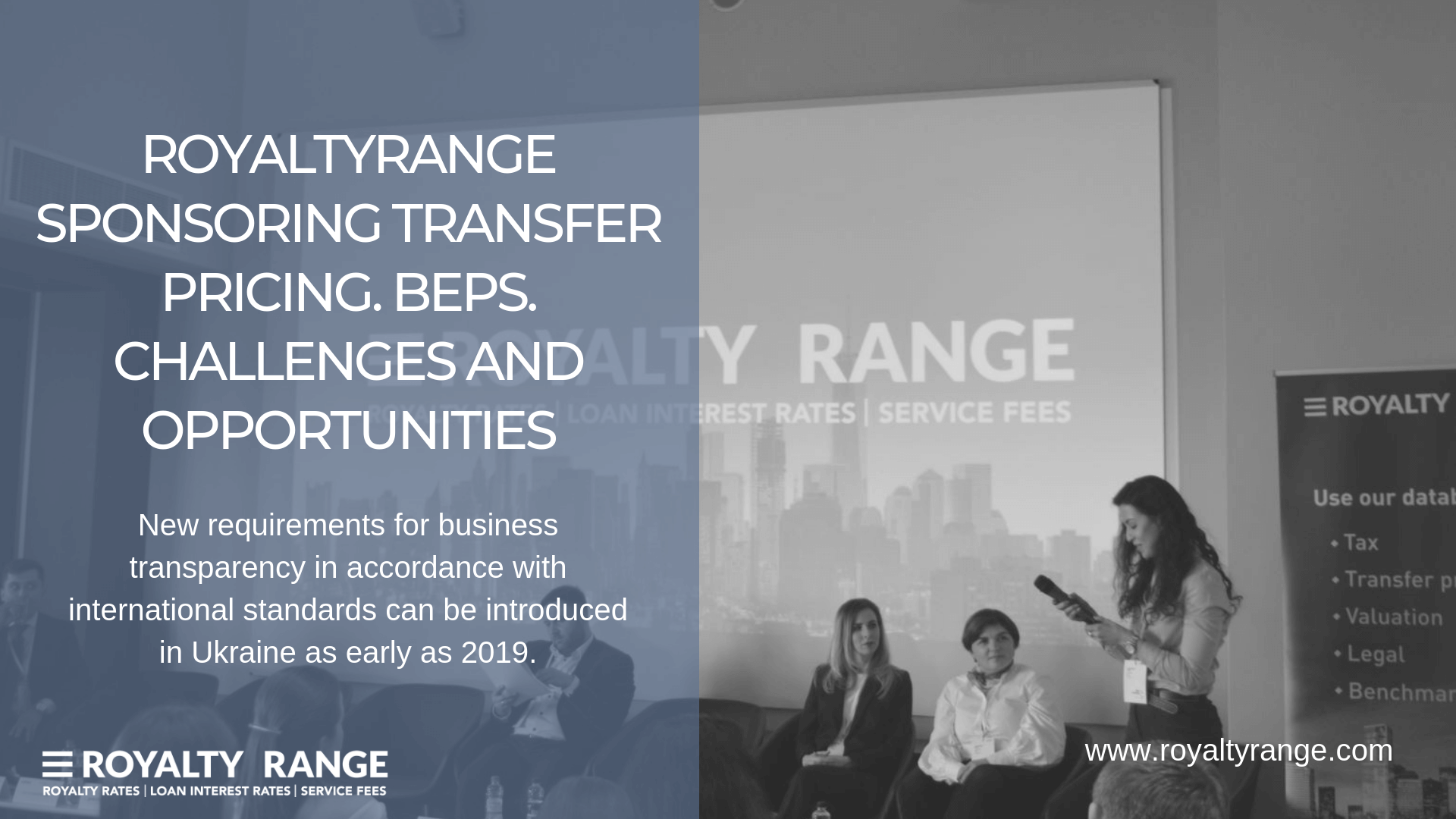 ROYALTYRANGE SPONSORING TRANSFER PRICING. BEPS. CHALLENGES AND OPPORTUNITIES